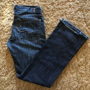 Organic Denim Bootcut 7 for All Mankind Jeans